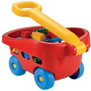 Ecoiffier Abrick Wagen mit 60 Bausteinen [Kinderspielzeug]